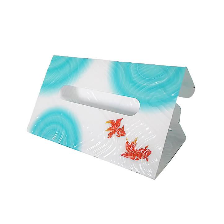 ティッシュボックスカバー 金魚と波紋