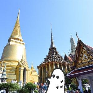 カトリさん、大きなお釈迦様に圧倒されるー海外旅行 タイへの旅