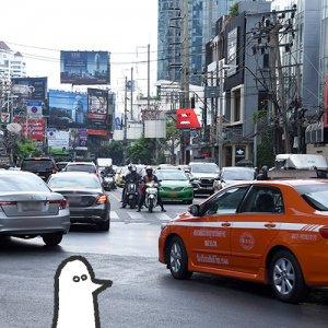 カトリさん、渋滞にはまるー海外旅行 タイへの旅